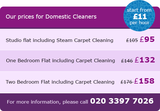 Soho Prices for Domestic Cleaning Service W1