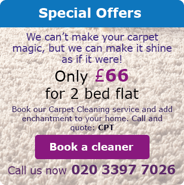 Discounts on Carpet Cleaning SE26
